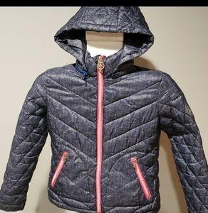 Michael Kors child's coat with detachable hood
